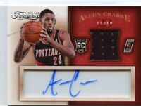 Allen Crabbe 2013-14 Panini Timeless Treasures Rookie Jersey Acetate Auto