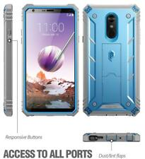Hybrid Armor Case Cover For LG Stylo 4 Plus/Stylo 4 Shockproof [w/Stand] Blue