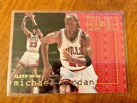 1995-96 Fleer MICHAEL JORDAN GOAT! END 2 END INSERT CHICAGO BULLS LAST DANCE!!