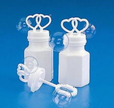 48 DOUBLE HEART BOTTLES BUBBLE BUBBLES WEDDING PARTY FAVORS FAST FREE SHIPPING