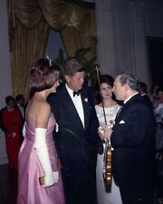 President and Mrs. John F. Kennedy with violinist Isaac Stern New 8x10 Photo