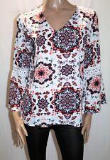 Rockmans Brand Multicolour Print Lace Shoulder Sleeve Blouse Size 12 BNWT #SM98