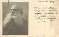 Autografo dello scrittore Filippo Orlando su cartolina