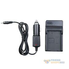 Travel Battery Charger for Nikon EN-EL14 MH-24 D5100 D3100 with Car Charger