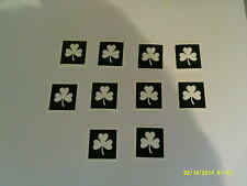 10 x shamrock stencil for glitter tattoo football rugby Irish Euros 2016 Ireland