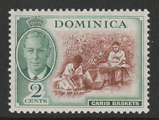 DOMINICA 1951 2c WITH 'A' OF 'CA' MISSING IN WATERMARK SG 122b MINT.