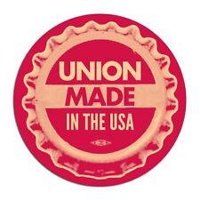 """Union Made In The USA Barack Obama Democrat Progressive Button Pin 2 1/4"""""""