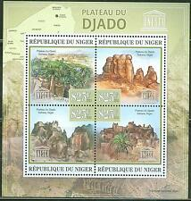 NIGER 2013 UNESCO WORLD HERITAGE SITE DJADO PLATEAU IN NIGER SHEET
