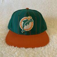 Vintage Miami Dolphons Hat Snapback Cap Pinstripe Twill NFL Football