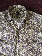 Smart 100% Genuine Hugo Boss Black Label 'Ronny' Slim Fit Floral Shirt In Medium