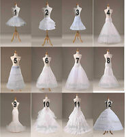White A Line/Fishtail/Merimaid Hoop Hoopless Ball Gown Crinoline Petticoat Slips