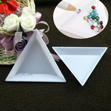 2pcs Triangular Plastic Storage Display Plate for Nail Art Decorations