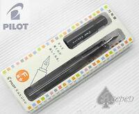 1  PILOT kakuno Fountain Pen F nib BLACK/ BLACK cap + 6pcs IC50 cartridges BLACK