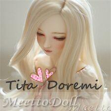 1 3 8-9 Bjd wig MSD MDD/ Luts Obitsu60 DD Doll blonde wig hair