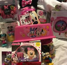 Minnie Mouse Step Stool, Hooded Towel, Grooming kit, spout Cover, Floating Play