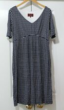 Tiffany Rose Maternity Blue Striped Short Sleeve Dress size 4 (US10-12)