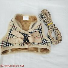 New listing Cherpet Puppy Harness and Leash Set Plaid Cute Adjustable Medium Dog Up to 20 lb