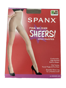 SPANX Women's Firm Believer High Waisted Sheers sz A Brown S6 Hoisery Shapewear