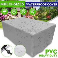 PVC Waterproof Garden Patio Furniture Covers Rattan Table Cube Seat Set