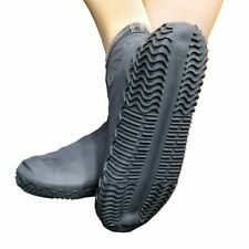 Waterproof Rubber Overshoe Rain Boot Shoe Covers Anti-slip Durable Reusable Bike