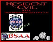 Umbrella Corp. Resident Evil     2 BSAA NORTH AMERICAN BIO ALLIANCE decals