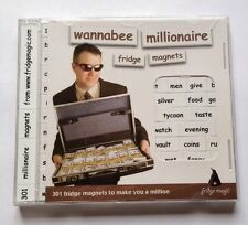 """""""Wannabee Millionaire"""" Fridge Magnets / Poetry 301 Words To Help Make You A Mil"""