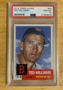 Topps Living Set  #55 Ted Williams PSA 10