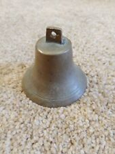 Antique Brass Bell, Large Metal Clapper, Loud Ring