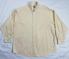 Brooks Brothers Mens XL Yellow Striped L/S Button Down Sport Shirt A2