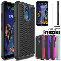 For LG Xpression Plus 2 Harmony 3 Shockproof Case Cover + Glass Screen Protector