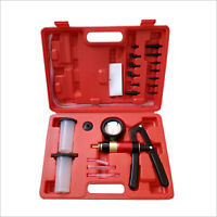 New Vacuum Pressure Pump Brake Bleeding Tester Kit 21pcs Fluid Bleeder Hand Held