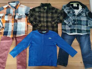 boys 3-4 years bundle autumn winter top shirts jeans F&F TU Name it