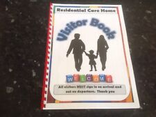 visitor book residential care home signing in book elderly care home