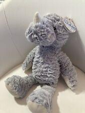 "Wishpet Rhino 15"" Plush Gray Soft Cuddly Floppy Stuffed Animal NWT"