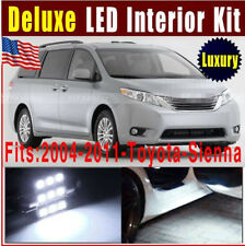 14X Deluxe White LED Light Bulb Interior Package Kit 2004-2011 For Toyota Sienna