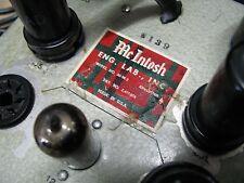 McIntosh tube power amplifier /amp 50W-2 (mono), refurbished, plug & play; rare!