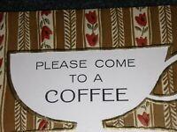 "Lot of 7 Vintage Hallmark  ""Please Come To A Coffee"" Invitation Card w Envelopes"
