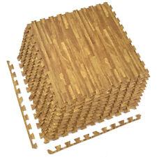Sorbus Wood Grain Floor Mats - Pack of 12 Tiles (48 Sq ft)