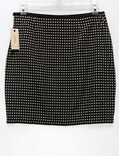 STUDIO M $88 NEW 11577 Tweedy Jacquard Above Knee Womens Skirt 6