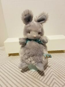 Bunnies By The Bay Bunny Rabbit Plush Gray Shaggy Stuffed Animal Soft Toy NWOT