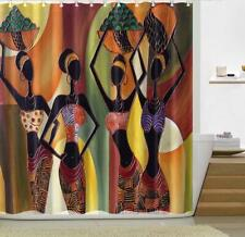 Shower Curtain Bath Cover Liner Digital Painting African Women Decor Bathroom