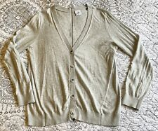 Cabi 5014 Cobblestone Cardigan Zipper Back Light Grey Long Sleeves Size Medium