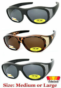 1 or 2 Pair Polarized Shield FIT OVER SUNGLASSES COVER All Glasses Drive Fishing