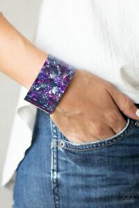 Paparazzi ~ Freestyle Fashion Purple Acrylic Cuff Bracelet ~🔥NEW RELEASE 2021🔥