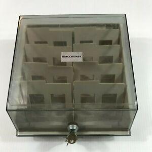 """Vintage Accodata 3.5"""" Disk Box"""