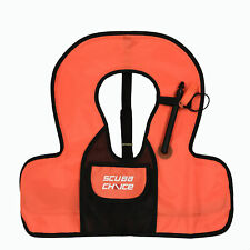 Scuba Choice Youth Kids Orange Snorkel Vest With Front Pocket & Whistle