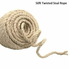 50ft Twisted Sisal Rope Cat Tree Scratching Post Toy Make Desk Legs Binding Rope