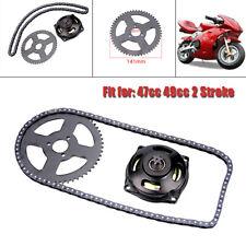 Sistema de Transmisi/ón T8F Cadena y Caja de Cambios 6T y Pi/ñ/ón Trasero para Mini Motocicleta 47cc 49cc