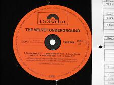 The Velvet Underground-LP 1982 POLYDOR archivio-copy MINT