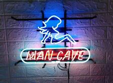 """Man Cave Mud Flap Girl 17""""x14"""" Neon Sign Light Lamp Beer Bar With Dimmer"""